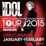 Billy Idol Jan-Feb Tour